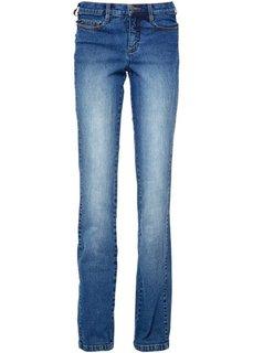 Стройнящие джинсы стретч, низкий рост K (синий «потертый») Bonprix