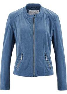 Куртка из искусственной замши (синий) Bonprix