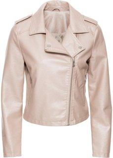Байкерская куртка с металлическим отливом (розовый металлик) Bonprix