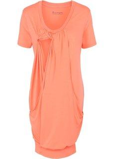 Мода для беременных: платье с функцией кормления (лососевый) Bonprix