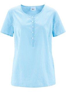 Туника с коротким рукавом (светло-голубой/белый в полоску) Bonprix