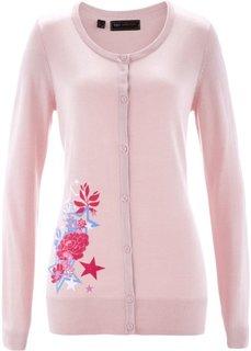 Кардиган (нежно-розовый/разноцветный с рисунком) Bonprix