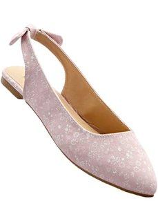 Балетки (дымчато-розовый/песочный) Bonprix