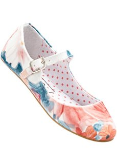 Балетки на ремешке (розовый кварц/оранжевый/бирюзово-зеленый) Bonprix