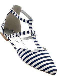 Балетки (синий/белый в полоску) Bonprix