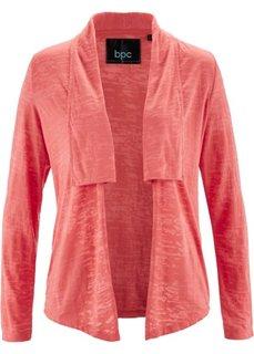 Трикотажная куртка с длинным рукавом (коралловый «потертый») Bonprix