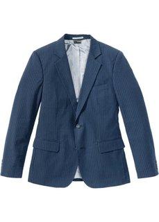 Пиджак Slim Fit из материала сирсакер (темно-синий в полоску) Bonprix