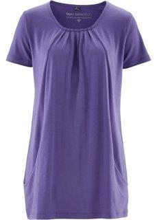 Длинная футболка (лиловый) Bonprix