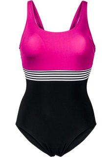 Формирующий купальник (ярко-розовый/черный) Bonprix