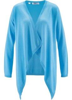 Кардиган с длинным рукавом и удлиненными боками (светло-голубой) Bonprix