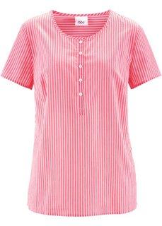 Туника с коротким рукавом (ярко-розовый гибискус/белый в полоску) Bonprix