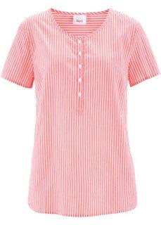 Туника с коротким рукавом (нежный ярко-розовый/белый в полоску) Bonprix