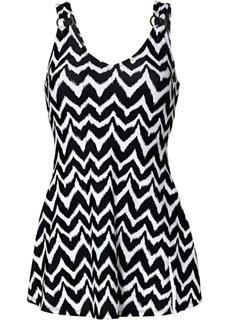 Купальник-платье (черный/белый) Bonprix