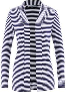 Трикотажная куртка (темно-синий/белый в полоску) Bonprix