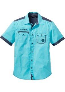 Рубашка Regular Fit с коротким рукавом (аква) Bonprix