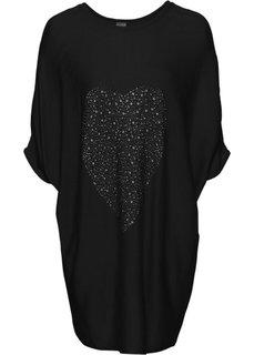 Пуловер с рукавом-летучая мышь (черный) Bonprix