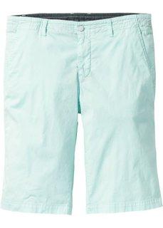Стрейтчевые шорты-бермуды Regular Fit (светло-зеленый) Bonprix