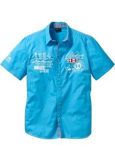 Рубашка стандартного покроя с коротким рукавом (бирюзовый) Bonprix