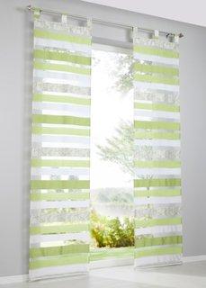Японская штора Намика (1 шт.), петли (зеленый) Bonprix