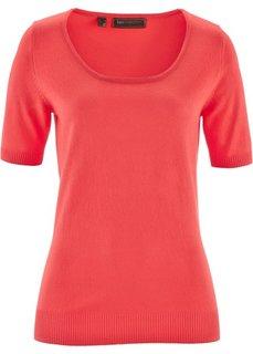 Пуловер с коротким рукавом (омаровый) Bonprix