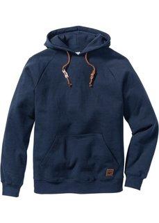 Свитшот Regular Fit с капюшоном (темно-синий) Bonprix