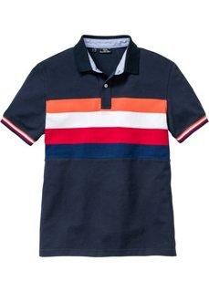 Футболка-поло  Regular Fit (темно-синий в полоску) Bonprix