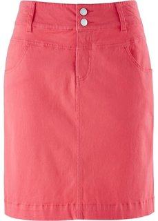 Юбка стретч (нежный ярко-розовый) Bonprix