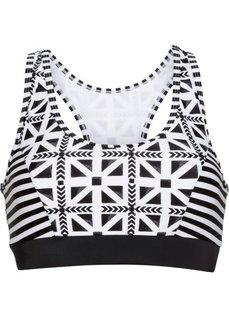 Бюстье для купального костюма (черный/белый) Bonprix