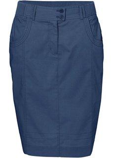 Узкая юбка стретч (синий индиго) Bonprix
