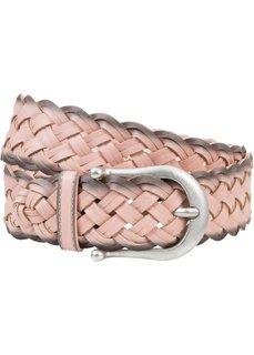 Широкий плетеный ремень с контрастными деталями (розовый) Bonprix