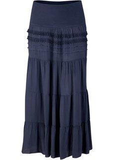 Ступенчатая макси-юбка (темно-синий) Bonprix