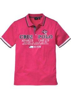 Футболка-поло Regular Fit (горячий ярко-розовый) Bonprix