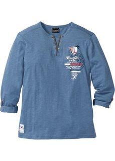 Футболка Regular Fit с длинным рукавом (синий) Bonprix