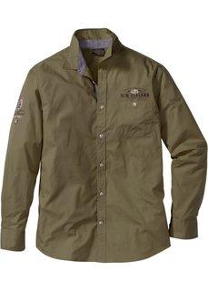 Универсальная рубашка Regular Fit (зеленый) Bonprix