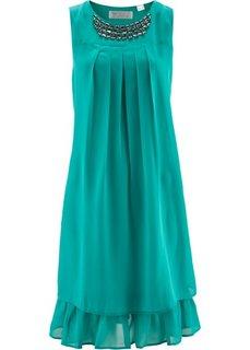 Платье с аппликацией (изумрудный) Bonprix