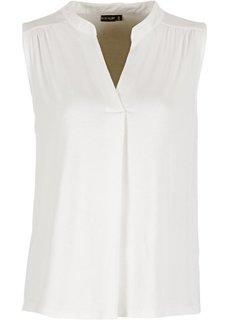 Блузка-топ (цвет белой шерсти) Bonprix