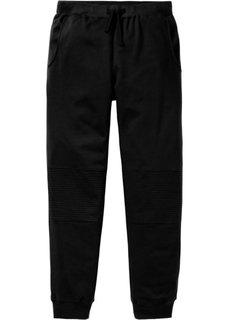 Трикотажные брюки Slim Fit (черный) Bonprix