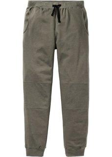 Трикотажные брюки Slim Fit (темно-оливковый) Bonprix