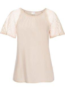 Кружевная блузка (нежно-абрикосовый) Bonprix