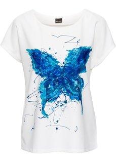 Блузка (цвет белой шерсти/яркий рисунок) Bonprix