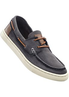 Кожаные кроссовки (серый) Bonprix