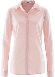 Блуза-рубашка с длинными рукавами (жемчужно-розовый) Bonprix