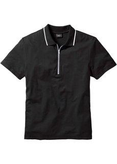Футболка-поло Regular Fit (черный) Bonprix