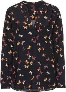 Блузка (черный с рисунком) Bonprix