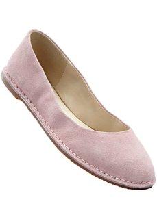 Замшевые балетки (нежно-розовый) Bonprix