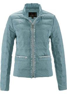 Стеганая куртка с имитацией денима (минерально-синий/белый с рисунком) Bonprix