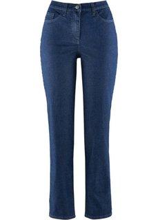 Стрейтчевые брюки до щиколотки (темно-синий) Bonprix