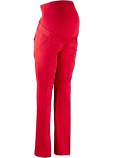 Мода для беременных: брюки-стретч со свободными прямыми брючинами (красный) Bonprix