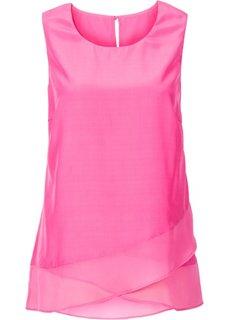 Топ с воланами (ярко-розовый фламинго) Bonprix