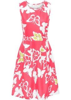 Платье с рисунком бабочек (светло-красный/кремовый с узором) Bonprix